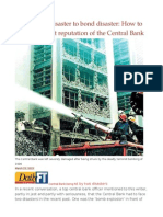 From Bomb Disaster to Bond Disaster How to Restore the Lost Reputation of the Central Bank