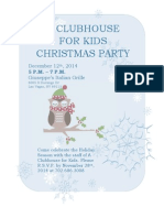 a clubhouse for kids christmas flyer