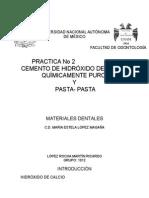 Practica No u2-2 MATERIALES DENTALES