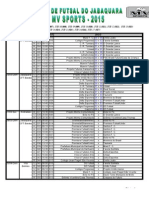 Tabela COPA JABAQUARA MVSports
