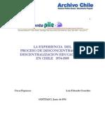 Espinoza (1993) La Experiencia Del Proceso de Desconcentracion y Descentralizacion Educacional en Chile 1974-1989