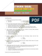 Latihan Soal Ujian Sekolah PKN SMP Kelas IX Tahun 2015