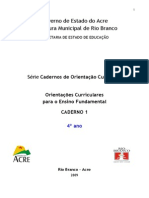Caderno 1 - Orientacoes Curriculares 4 Ano - Todos Os Componentes