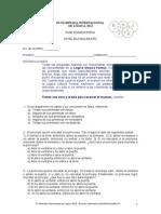 OLIMPIADA DE LOGICA 2012 - Examen Fase Eliminatoria Bachillerato