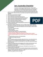 Updated Checklist -Engineers Australia