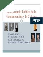 Introduccion a La Economia Politica de La Comunicacion y La