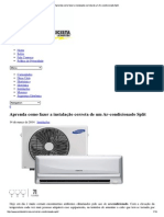 Aprenda Como Fazer a Inst Ar Condicionado