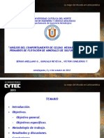 Analisis Del Comport de Celdas Neumaticas en Circuitos Prim de Flot de Miner Sulfurados de Cu - Victor Conejeros