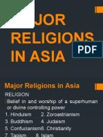 Major Religions in Asia