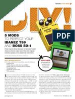 How To Mod TS9 Tubescreamer pedal