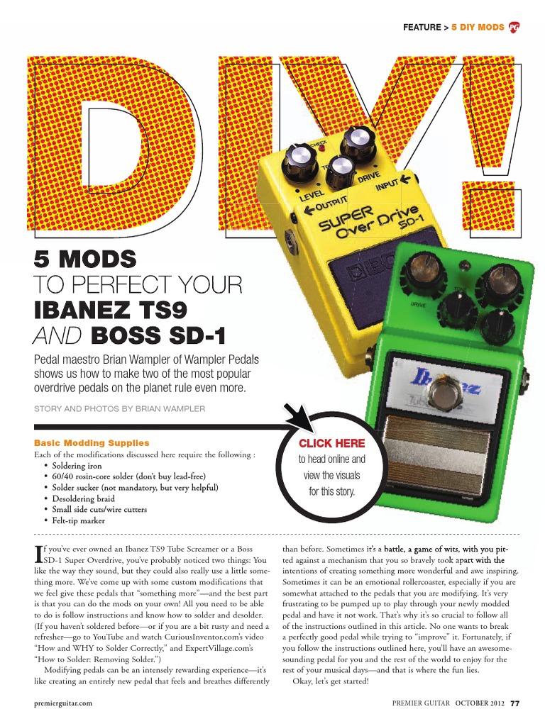 How To Mod TS9 Tubescreamer pedal | Printed Circuit Board