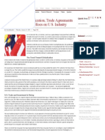 The Impact of Globalization, Trade Agreements and Emerging Trade Blocs on U.S. Industry