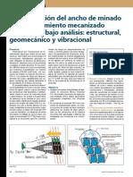 Determinación Del Ancho de Minado Con Sostenimiento Mecanizado Sustentado Bajo Análisis