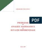 Probleme de Analiza a Si Ecuatii Diferentiale