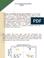Boston Consulting Group (BCG) Matrix