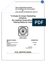 A Study on Green Marketing Initiative by Leading Corporation Takin Nokia as Case