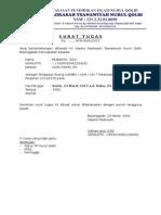 Surat Tugas Pengawas UAMBN 2015 NQ