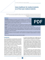 Exposure to Primary Healthcare for Medical Students