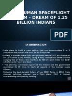 Indian Human Spacelight Program - Dream Of 1.25 Billion Indians