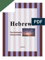 Book of Hebrews The Abrahamic Interpretation