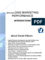 Managing Marketing Performance
