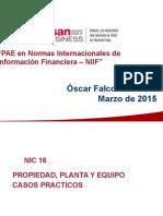 02NIC 16 Propiedad, Planta y Equipo MAR2015 - Casos