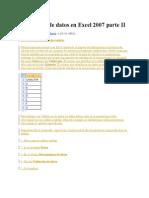 Validación de Datos en Excel 2007 Parte II