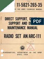 TM 11-5821-265-35 ARC-111/RT-802