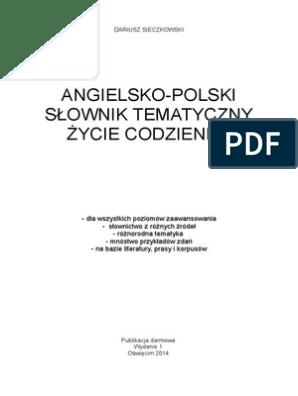 przyjazd o rozsądnej cenie kod promocyjny Angielsko-polski słownik tematyczny: Życie codzienne