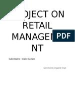 Project on Retail Management-Angadbirsingh