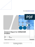 Analysis Report for CDRHOSR Problem.doc