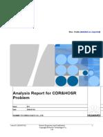 Analysis Report for CDRHOSR Problem.doc