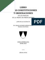 Libro de las Constituciones y Ordenaciones de la Orden de los Frailes Predicadores
