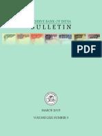 Rbi Bulletin Mar 2015