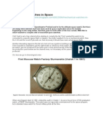 Mechanical Watches in Space.docx