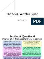 The GCSE Written Paper
