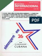 Revista Internacional-Nuestra Época Julio de 1984 Edición Chilena