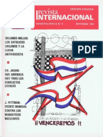 Revista Internacional-Nuestra Época Septiembre de 1984 Edición Chilena
