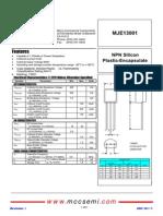 MJE13001 Transistor Data
