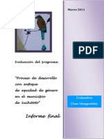 """INFORME FINAL """"Proceso de desarrollo con enfoque de equidad de género en el municipio de Suchitoto"""""""