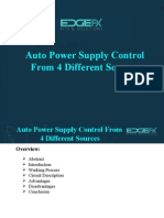 Auto Power Supply Control From 4 Different Sources