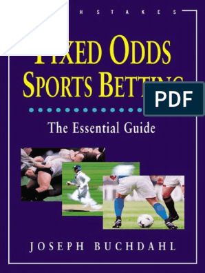Fixed odds sports betting joseph buchdahl pdf rigged sports betting by official