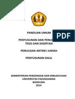 Pedoman Tesis Disertasi Artikel Ilmiah Dan Dalil 2014
