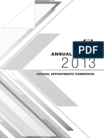 Judicial Appointments Commission Annual Report 2013