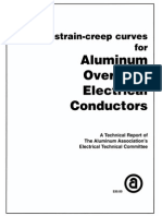 Stress Strain Creep Curves for Aluminum Overhead Electrical Conductors