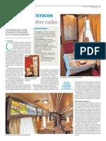 Trenes Turísticos de España. Mansiones sobre raíles (ABC 20 Marzo 2015)