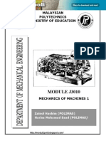 J3010 Mechanics of Machines 1