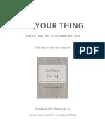 DYT Printable Journal