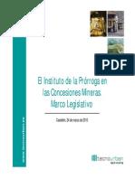 prrorogas mineras