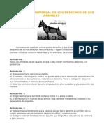 DECLARACIÓN UNIVERSAL DE LOS DERECHOS DE LOS ANIMALES